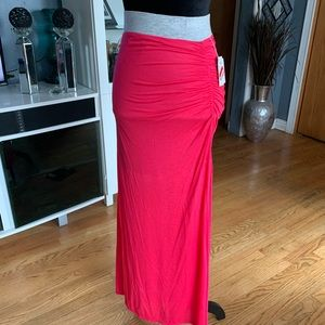 **NEW Stem Ruched Maxi Skirt